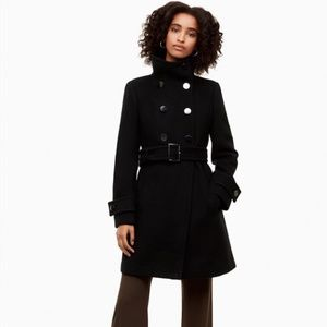 Babaton Aritzia Black Wool Bromley Coat